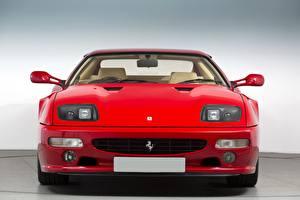 Bilder Ferrari Vorne Rot 512 Sportcar auto