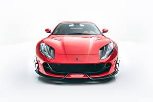 Fotos Ferrari Fahrzeugtuning Rot Metallisch Vorne Mansory, 812, Superfast auto