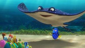 Hintergrundbilder Fische Rochen Unterwasserwelt Finding Dory 3D-Grafik