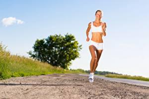 Hintergrundbilder Fitness Wege Lauf Sport Mädchens