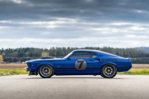 Fotos Ford Seitlich Blau 1969 Mustang Mach 1, By RingBrothers automobil
