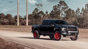 Pictures Ford Black Pickup F-150 Rapto automobile