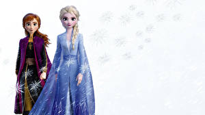Pictures Frozen 2013 film Disney Braid hair Anna, Elsa Cartoons 3D_Graphics Girls
