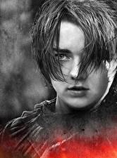 Bilder Game of Thrones Maisie Williams Hautnah Gesicht Arya Stark Prominente Mädchens