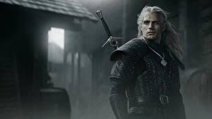 Wallpaper Henry Cavill Man Geralt of Rivia Swords Armour The Witcher Celebrities