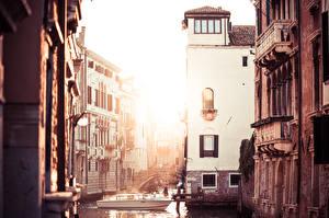 Fotos Italien Motorboot Venedig Kanal Städte