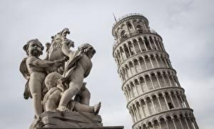 Fotos Italien Skulpturen Türme tower of Pisa, Pisa, Tuscany Städte