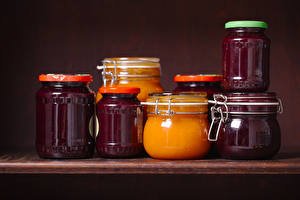 Wallpaper Fruit preserves Jar