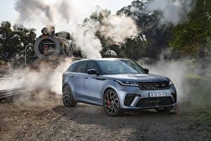 Hintergrundbilder Land Rover Crossover Grau 2019-20 Velar SVAutobiography Dynamic Edition auto