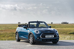Pictures Mini Light Blue Metallic Convertible 2020 Cooper S Cabrio Sidewalk Worldwide