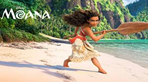 Bilder Vaiana – Das Paradies hat einen Hak Disney Posiert Maui Mädchens
