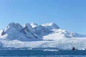 Hintergrundbilder Berg Schiff Schnee Antarctica