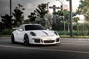 Bilder Porsche Weiß GT3 911 auto