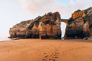 Fotos Portugal Brücke Strände Felsen Ponta da Piedade Natur