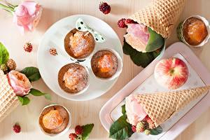 Images Rose Pound Cake Apples Ice cream cone Food