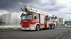 Pictures Scania Fire engine Red R500