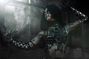 Wallpaper Suicide Squad 2016 Magic Hands Enchantress (Dzhun Mun) film Girls