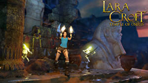 Картинки Tomb Raider Пистолет Лара Крофт Lara Croft and the Temple of Osiris Девушки 3D_Графика