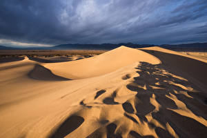 Bureaubladachtergronden Amerika Californië Zand Een dal Death Valley