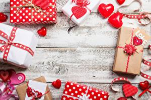 Photo Valentine's Day Heart Present Template greeting card Boards