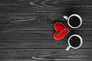 Fotos Valentinstag Becher Herz Bretter Vorlage Grußkarte Schlüssel Lebensmittel