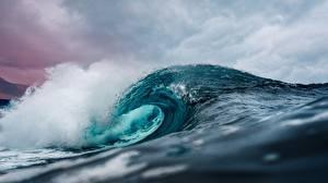Fotos Wasserwelle Meer Ozean Wasser Natur