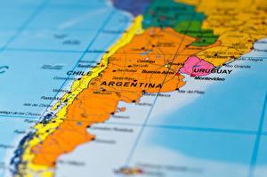 Hintergrundbilder Argentinien Chile Geographie Karte South America
