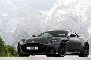 Hintergrundbilder Aston Martin Schwarz Karbon DBS Superleggera automobil
