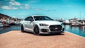 Hintergrundbilder Audi Seebrücke Weiß Metallisch RS5, ABT, Sportback, RS5-R, 2019 auto