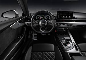 Wallpaper Audi Salons Interior Coupe Driving wheel S5, 2020, TDI Cars