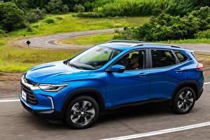 Hintergrundbilder Chevrolet Hellblau Metallisch 2020 Tracker Premier auto