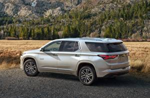 Pictures Chevrolet Crossover Metallic Side Silver color High Country, Traverse, 2021 auto