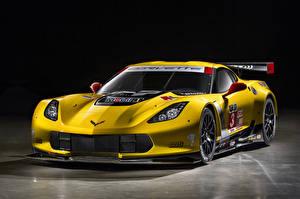 Picture Chevrolet Tuning Yellow 2014-19 Corvette C7.R GT2 auto