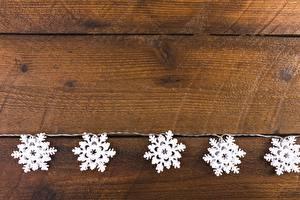 Bilder Neujahr Bretter Schneeflocken Vorlage Grußkarte