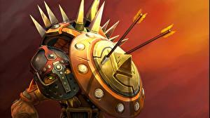 Wallpaper DOTA 2 Bristleback Warriors Shield Helmet Games Fantasy