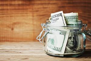 Pictures Dollars Banknotes Money Jar