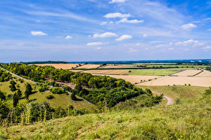 Sfondi desktop Inghilterra Campo agricolo Cielo Erba Alberi Kingsclere