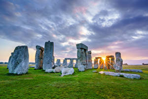 Fotos England Stein Wolke Sonne Wiltshire, Stonehenge