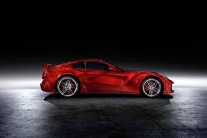 Fotos Ferrari Tuning Coupe Rot Metallisch Seitlich Mansory, Berlinetta, F12, 2013, La Revoluzione auto