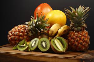 Wallpaper Fruit Pineapples Chinese gooseberry Grapefruit