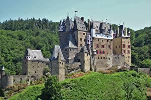 Hintergrundbilder Deutschland Burg ELZ Castle, Rhineland-Palatinate Städte