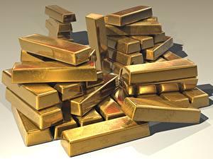 Hintergrundbilder Gold Viel Barren Metall 3D-Grafik