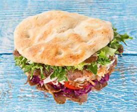 Fotos Burger Gemüse das Essen