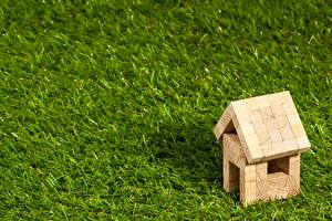 Pictures Building Toy From wood Grass Lawn