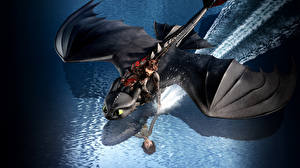 Sfondi desktop Dragon Trainer Drago Volante 3, Icking, Night Fury Cartoni_animati Grafica_3D