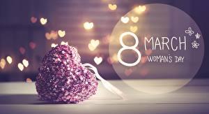 Bilder Internationaler Frauentag Herz Text Englischer