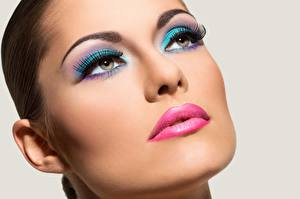 Image Modelling Face Makeup Staring young woman