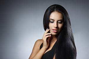 Wallpapers Modelling Hair Makeup Brunette girl Beautiful