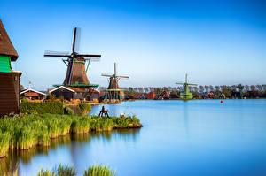 Fotos Niederlande Kanal Mühle Zaanse Schans, Zaandam Natur