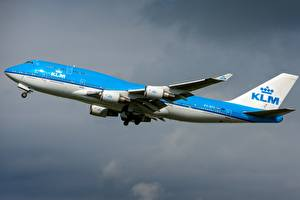 Images Airplane Passenger Airplanes Boeing KLM 747-400M